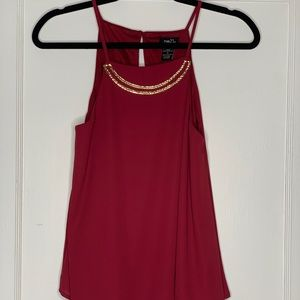 Maroon Party Top with Gold detailing NWT
